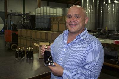 Jonathan Blum with Shiso Soy bottle